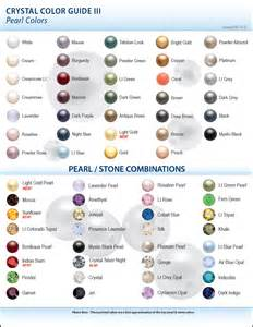 Crystal color guide pearl colors 2010