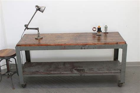 vintage industrial dining table rolling kitchen island