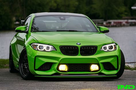 light green bmw ind delivers a green bmw m2 coupe