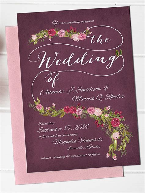 Templates Wedding Invitations by 16 Printable Wedding Invitation Templates You Can Diy