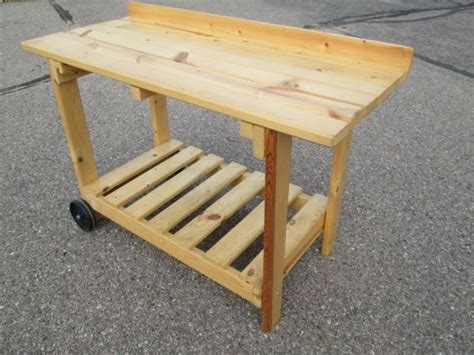 Outdoor Grill Table by Prep Station Next To The Grill Potting Table Diy