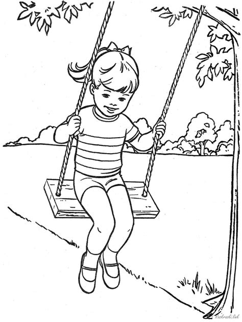 coloring pages the swing coloring page az coloring pages