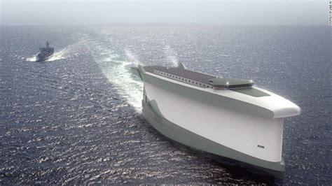 lade di design vindskip cargo ship uses its hull as a sail cnn