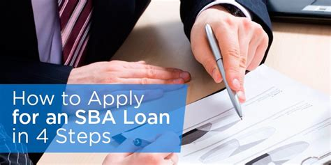 how to apply for a loan for a house how to apply for an sba loan in 4 steps