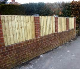 Trellis Fencing On Top Of Wall Brick Wood Fence 5746