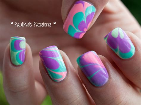 Water Nail water marble nails
