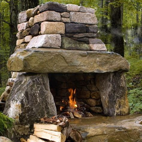 Our Next Outdoor Project Out Door Place Bbq Rustic Outdoor Fireplace Would Be Amazing For Our Summer