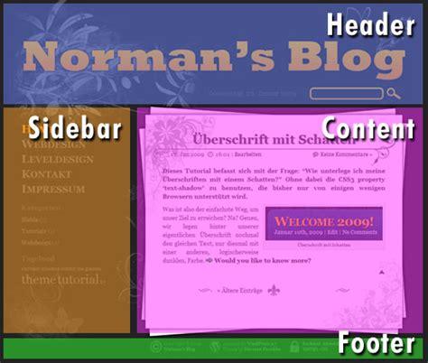 Zweispaltiges Layout Wordpress | css einsteiger tutorial 3 norman s blog
