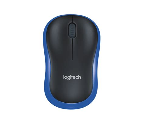 Mouse Logitech Wireless M185 Grey Blue logitech m185 blue mouse w l