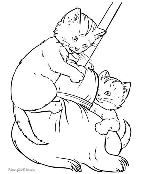 kitty world kitten coloring pictures