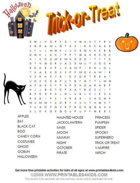 printable word search halloween halloween word search printables for kids free word