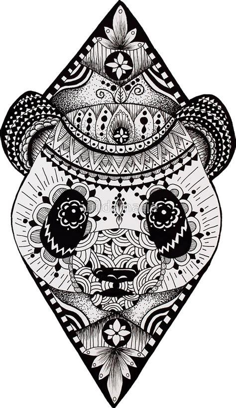 Wild Animal Wall Stickers quot mandala panda quot by wildamarie redbubble