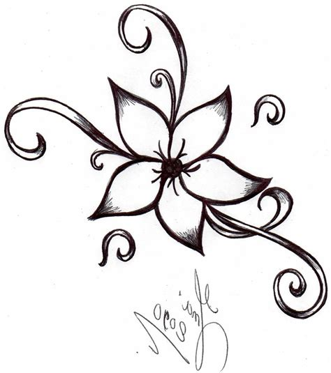 easy tattoo drawing ideas simple flower drawing ideas small flower tattoos small