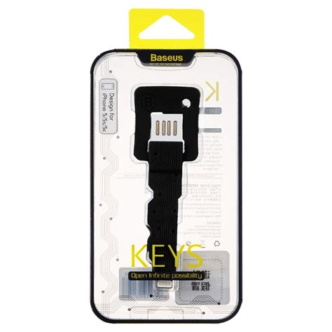 Discount Baseus Key Cable Lightning To Usb For Iphone Black Baseus Key Cable Lightning To Usb For Iphone