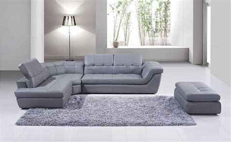 grey leather sectional with chaise 397 grey italian leather raf chaise sectional from j m