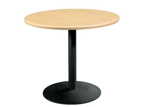 Laminate Round Table with Metal Base   Techno Office Furniture