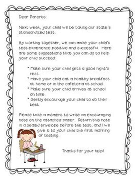 Letter Of To A Child Before A Test