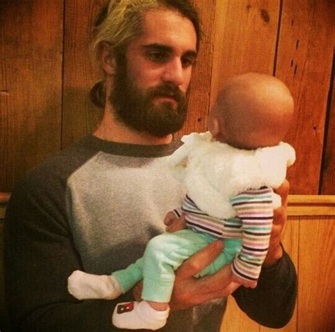 does dean ambrose have kids seth rollins he looks terrified of this baby seth