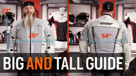 Big And Tall Motorcycle Gear Sizing Guide At Revzilla Com