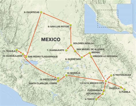 map of mexico and cities colonial cities of central mexico 2019