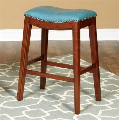 Leather Saddle Style Bar Stools by 24 Quot Faux Leather Nailhead Saddle Style Bar Counter Stools