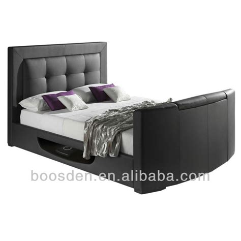 cheap tv bed frames comfortable bedroom furniture wholesale cheap leather bed