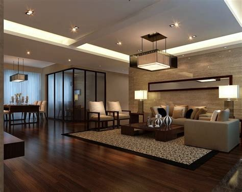Pictures Of Wood Floors In Living Rooms | tv wall in chinese living room with wood flooring 3d
