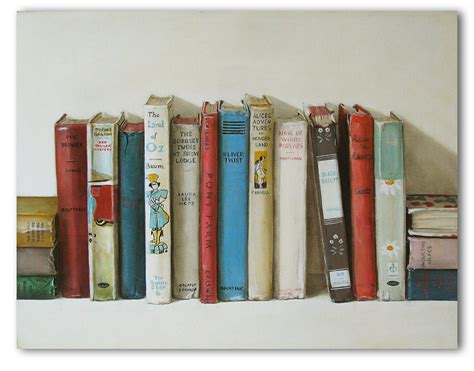 painting book book dirt paintings of bookshelves almost as lovely as