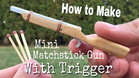 How To Make A Mini Cannon Out Of Paper - how to make the world s smallest rifle that shoots with