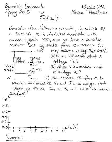 transistor quiz questions 28 images transistor test bipolar transistors electronics and
