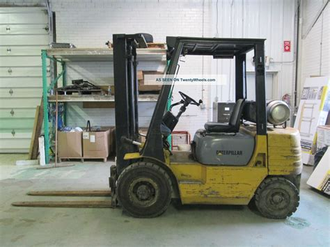 Caterpillar Mitsubishi Safety cat caterpillar gp25 pneumatic tire forklift fork lift ohio tow motor