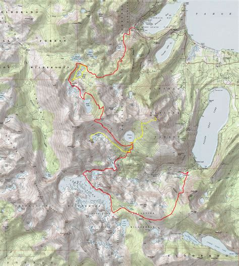 desolation wilderness map desolation wilderness map my