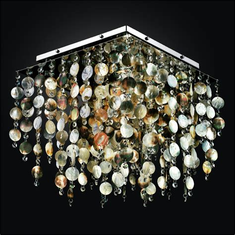 Flush Mount With Mother Of Pearl Cityscape 598p Pearl Lights
