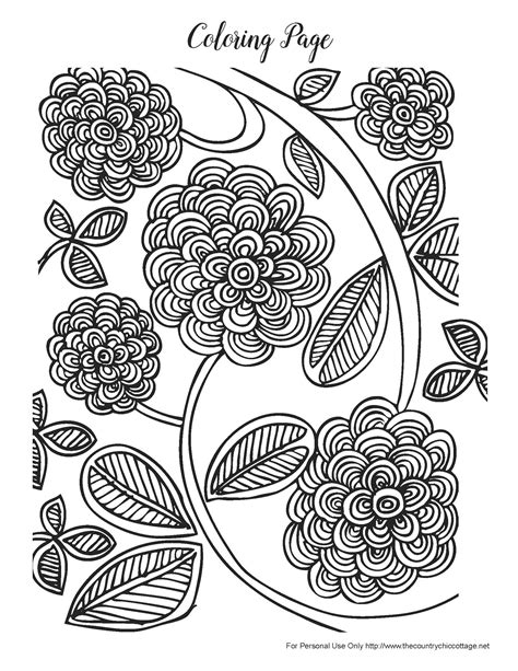 coloring pages for adults spring free spring coloring pages for adults the country chic