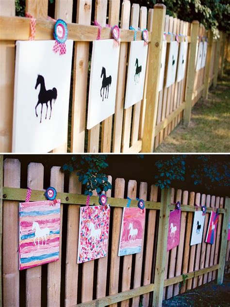birthday themed lesson plans artistic ombre watercolor horse birthday party party