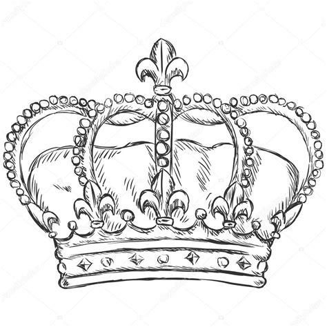 vector sketch illustration royal crown stock vector