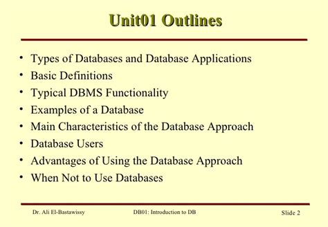 design baseline definition database design slide 1