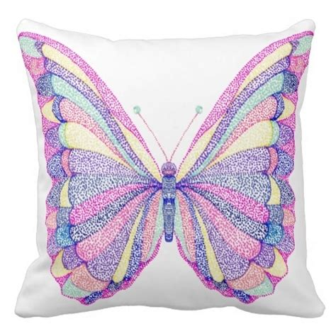 Playette 2 In 1 Support Butterfly Dot brown whimsical girly paint dots artistic butterfly pillow size 20 quot by 20 quot free