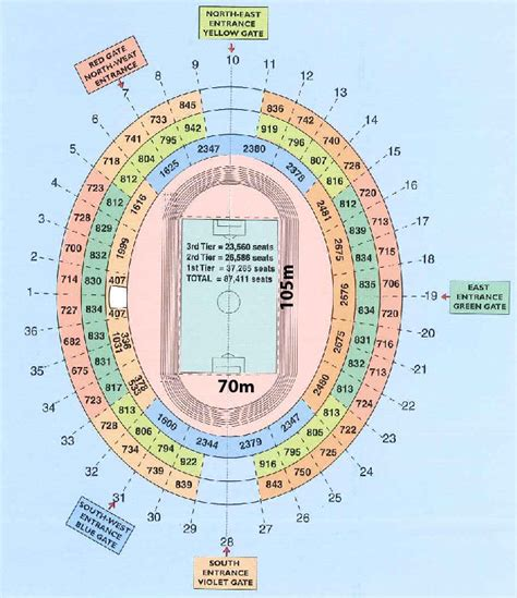 singapore national stadium seating plan national stadium floor plan venue directory