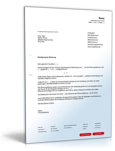 Muster Kündigung Wohnung Mit Nachmieter Vorlage K 252 Ndigung Mietvertrag K 252 Ndigung Vorlage Fwptc