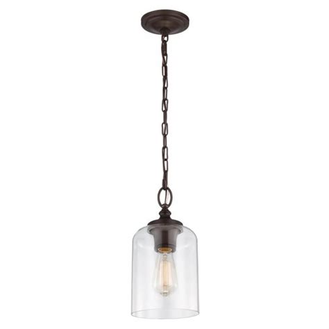 Bronze Mini Pendant Lights Bronze Mini Ceiling Pendant Light With Clear Glass Shade