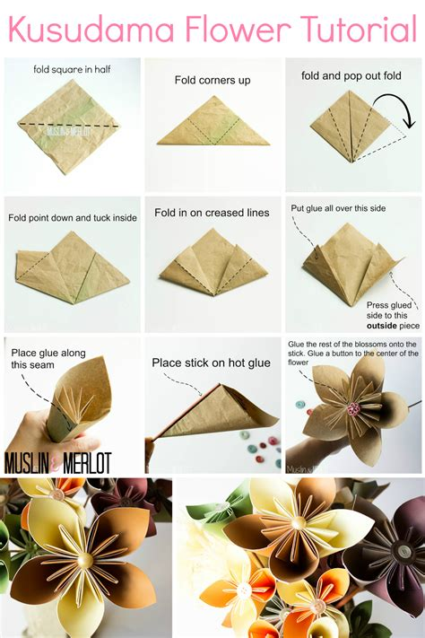 Flower Origami Tutorial - kusudama flower tutorial muslin and merlot
