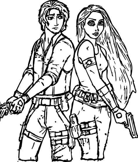 Rapunzel And Flynn Police Coloring Page Wecoloringpage Rapunzel And Flynn Coloring Pages