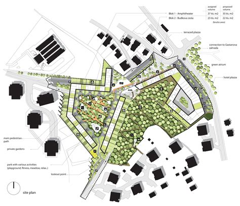 architectural site plan parkhill architectural competition nice architects