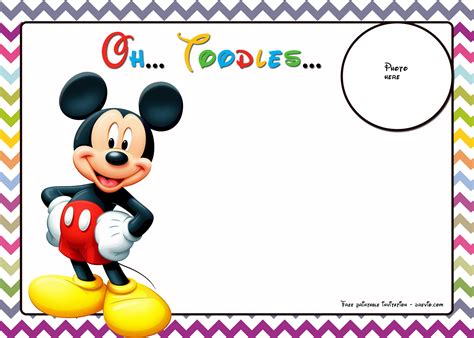 mickey mouse birthday card template invitation template mickey mouse gallery invitation