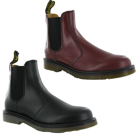 doc martens chelsea boots new mens leather dm dr doc martens 2976 pull on chelsea