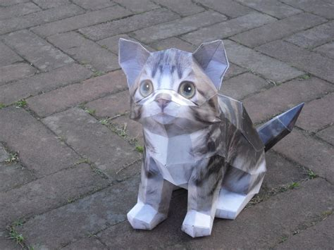 Papercraft Cat - cat papercraft by timbauer92 on deviantart