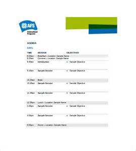 Template Of An Agenda by 10 Event Agenda Templates Free Sle Exle Format