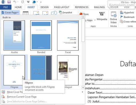 membuat halaman baru di word tip word cara membuat page number yang dimulai dari