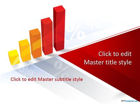 3d powerpoint templates free 3d bar chart ppt template